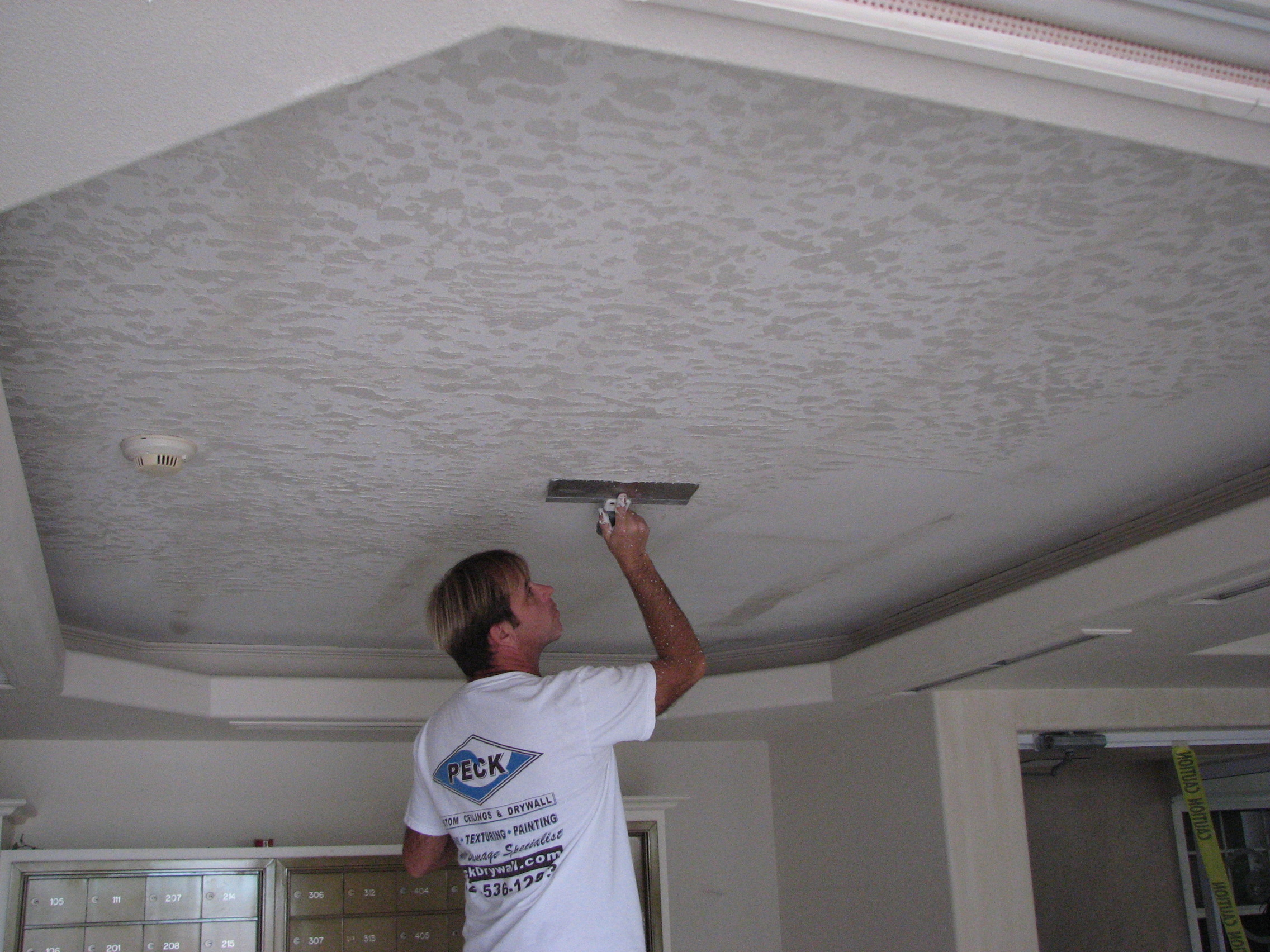 removing popcorn ceiling fort worth