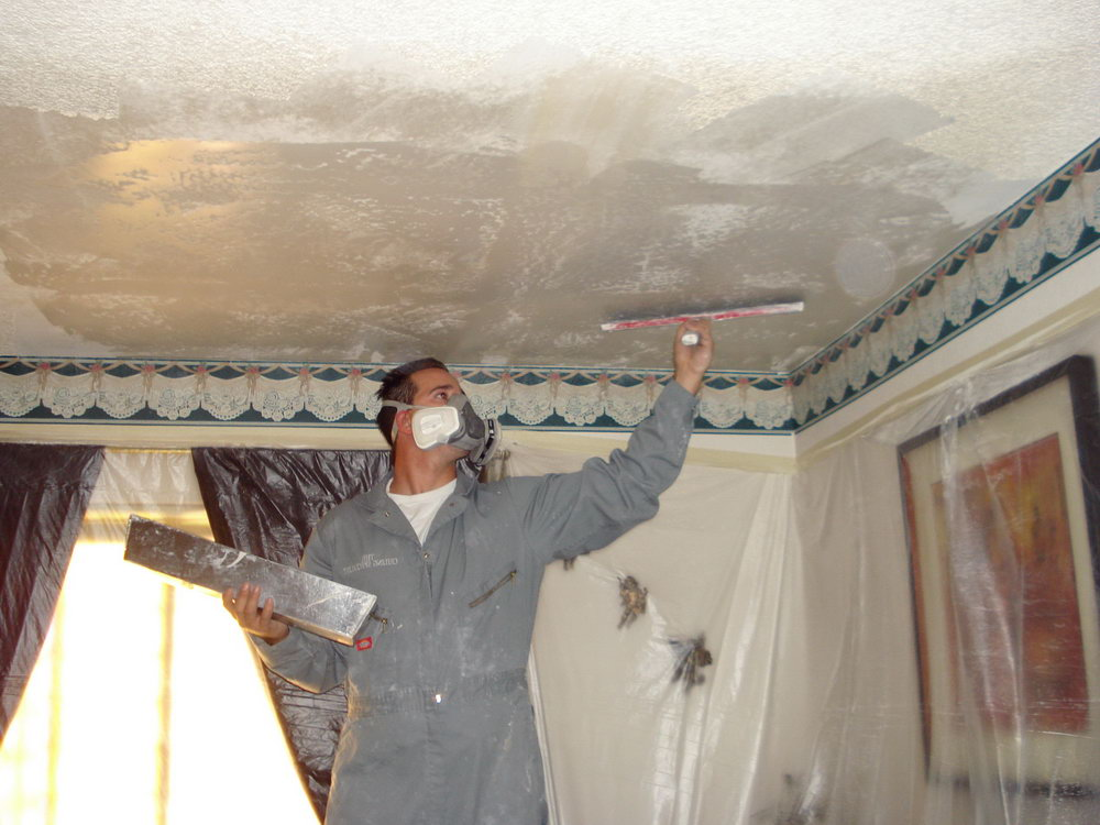 Cost to remove popcorn ceiling canada for Asbestos in drywall canada